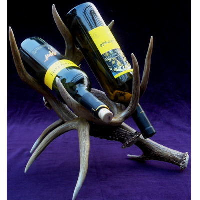 antler wine rack 2 bottle