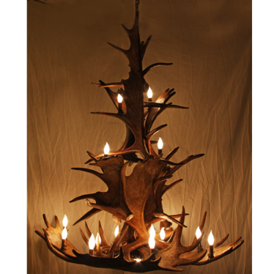 3 Tier Moose Antler Chandelier
