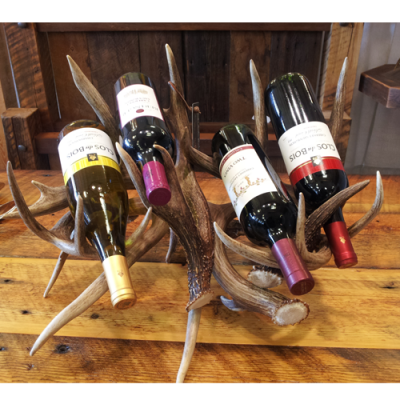antler wine rack 4 bottle