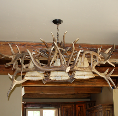 elk and deer antler bar light