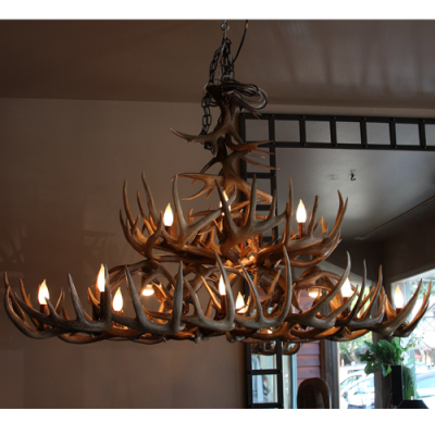 Whitetail antler dining table light
