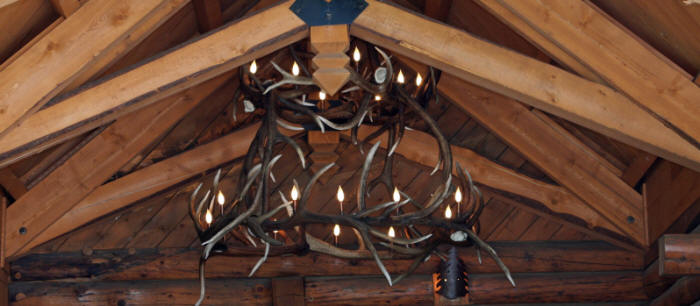 two tier elk antler chandelier