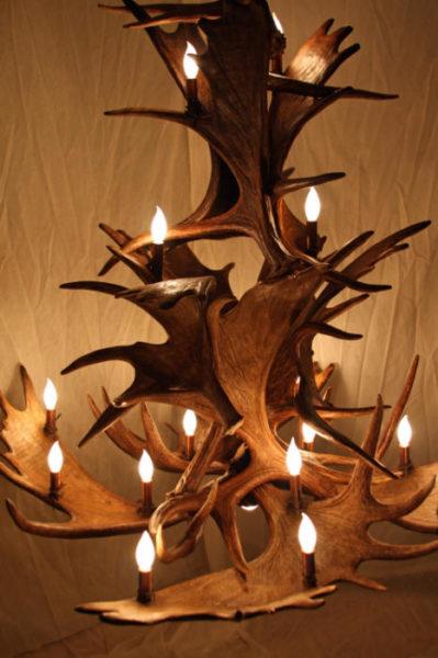 Moose Antler Chandelier 3 Tier