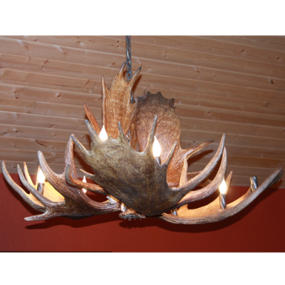moose antler chandelier McGinnis