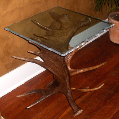 Moose Antler End Table - Plateau