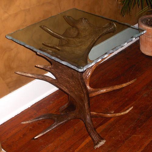 Moose Antler End Table - Plateau