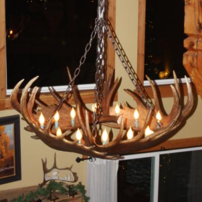 round moose antler chandelier