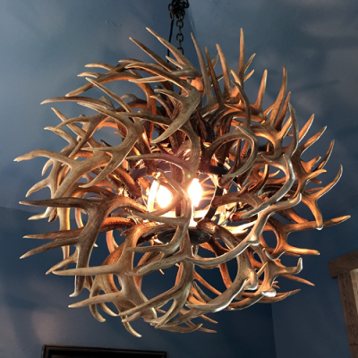 Whitetail Antler Ball Chandelier