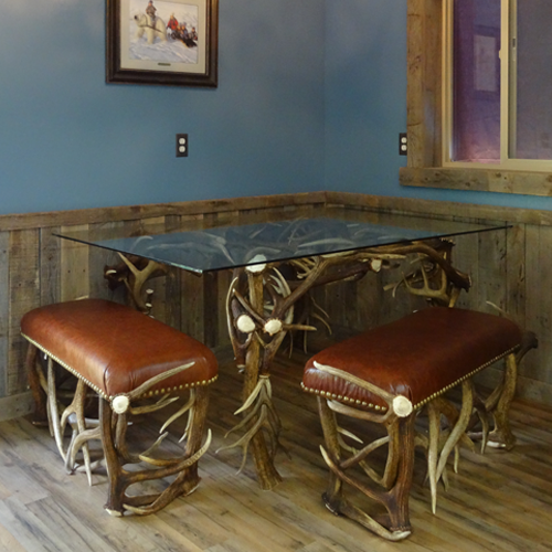 antler dining table