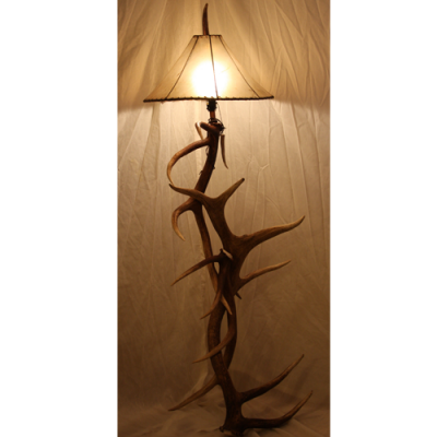 elk antler floor lamp