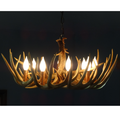single tier whitetail antler chandelier