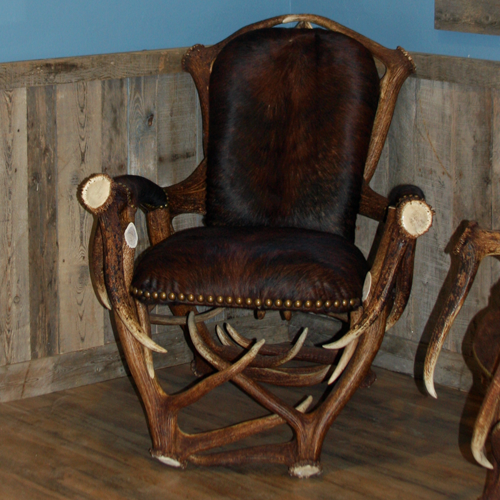 Reclining antler chair