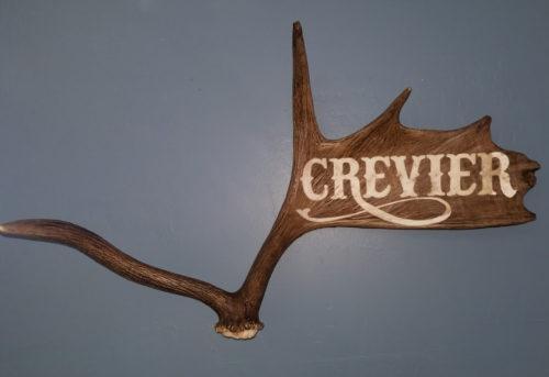 antler name carving