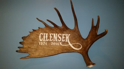 personalized moose antler